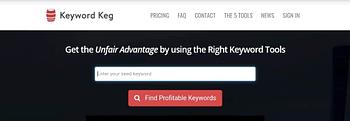 Keyword Keg- Best Free Keyword Research Tool