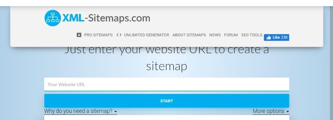 Free seo tools - XML Sitemaps Generator
