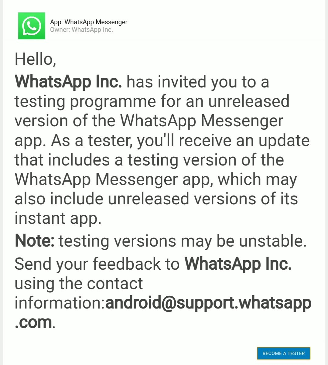 Join WhatsApp BetaLink