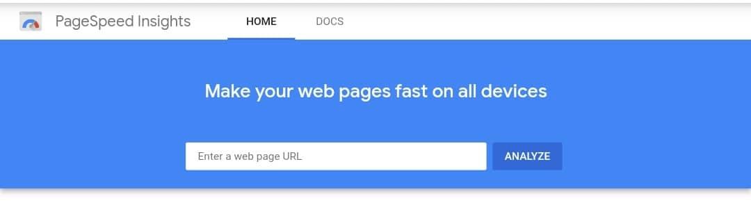 Free SEO Tools - Google PageSpeed Insights