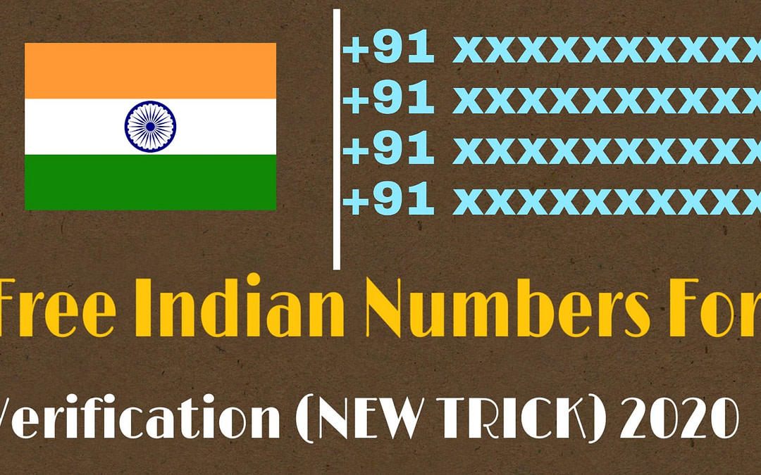 Free Indian Numbers For OTP Verification (NEW TRICK) 2020
