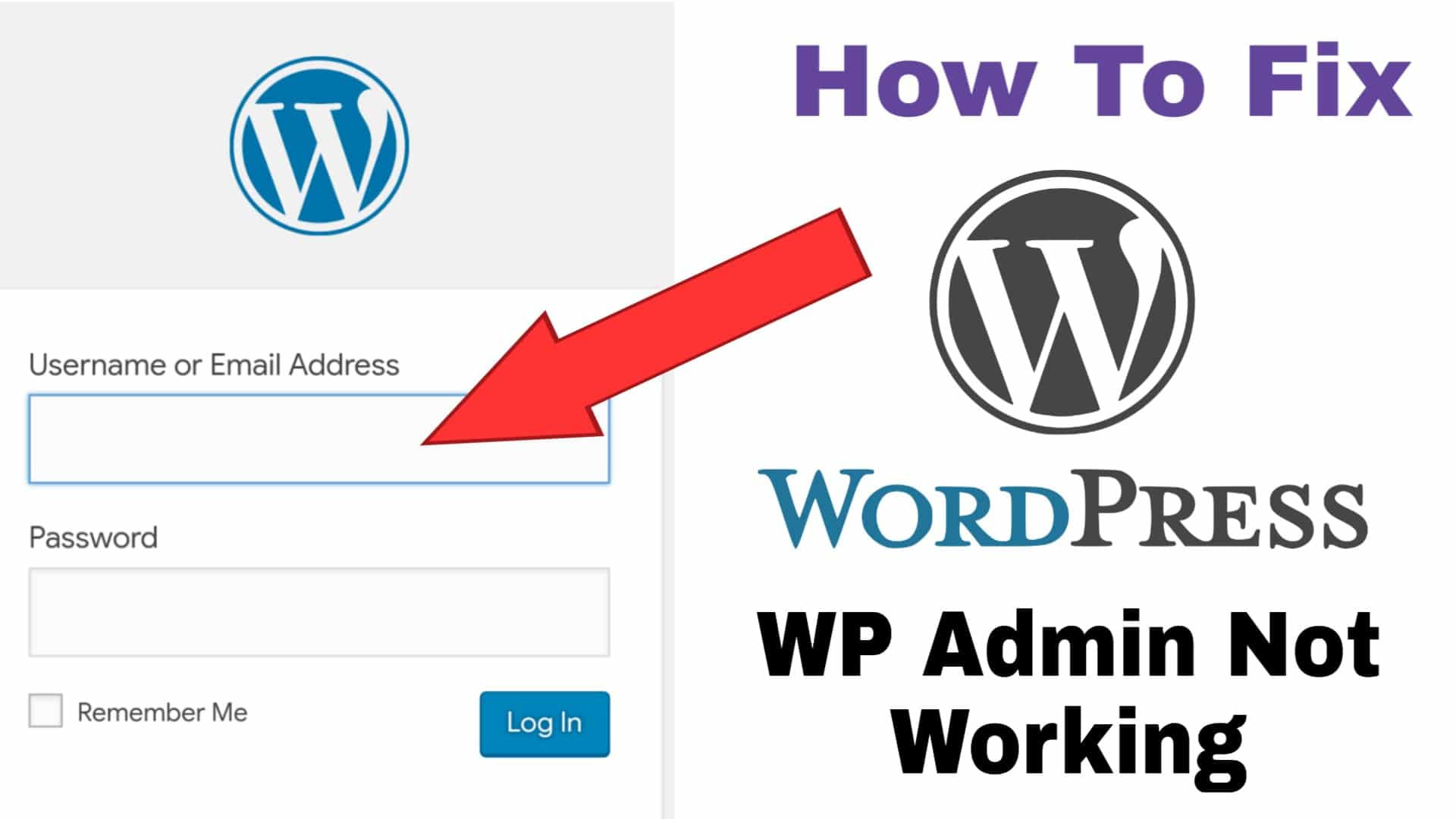 How To Fix WP Admin not working Problem On WordPress